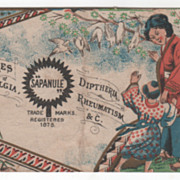 Sapanule The Celebrated Glycerine Lotion All Druggists Victorian Trade Card