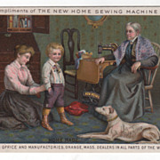 New Home Sewing Machine Orange MA Massachusetts Victorian Trade Card