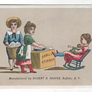 Gilbert S Graves' Corn Starch Buffalo NY New York Victorian Trade Card B