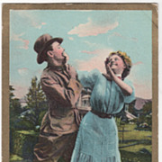 """Comic Courting """"The Army A Misfire"""" L. R. Cornwell NY - 1909"""