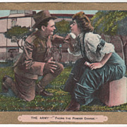 """Comic Courting """"The Army Facing the Powder Charge"""" L. R. Cornwell NY - 1909 Vintage"""
