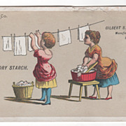 Gilbert S Graves' Laundry Starch Buffalo NY New York Victorian Trade Card
