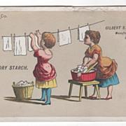 Gilbert S Graves' Laundry Starch Buffalo NY New York Victorian Trade Card