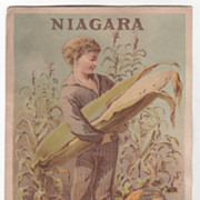 Niagara Corn Starch Victorian Trade Card