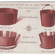 Indurated Fibre Ware United Indurated Fibre Ware Co of NJ Victorian Trade Card