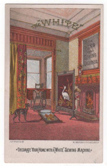 White Sewing Machine B L Spence Southbridge MA Victorian Trade Card