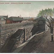Jamaica Plain Station Jamaica Plain MA Massachusetts Vintage Postcard