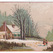 Carpets Furniture Dry Goods Mullins & Co Newark NJ Victorian Trade Card