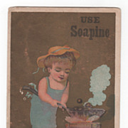 Soapine Kendall Mfg Co Providence R I Est. 1827 Victorian Trade Card C