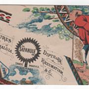 Sapanule The Celebrated Glycerine Lotion All Druggists Victorian Trade Card E