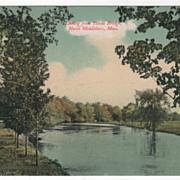 Looking from Titicut Bridge North Middleboro MA Massachusetts Vintage Postcard