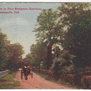 Along the Drive to Fort Benjamin Harrison Indianapolis IN Indiana Vintage Postcard