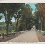 The Newburyport Turnpike Newburyport MA Massachusetts Vintage Postcard