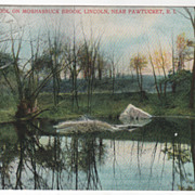 Pool on Moshassuck Brook Lincoln Near Pawtucket RI Rhode Island Vintage Postcard