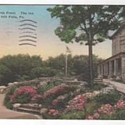 Corner North Front The Inn Buck Hill Falls PA Pennsylvania Vintage Postcard