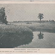 Crooked Brook East Corinth ME Maine Vintage Postcard