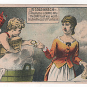 David's Prize Soap 185 &187 1st Avenue NYC NY New York Victorian Trade Card