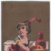 Swinborne's Isinglass Gelatine Francis Leggett Agents NYC NY Victorian Trade Cd