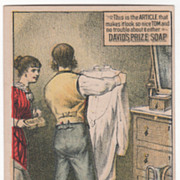 David's Prize Soap 185 &187 1st Avenue NYC NY New York Victorian Trade Card B