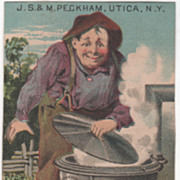 J S & M Peckham Peckham's Portable Agricultural Furnace Victorian Trade Card
