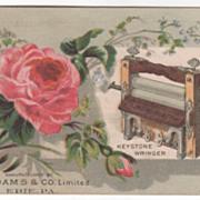 Keystone Wringer F F Adams & Co Ltd Erie PA Pennsylvania Victorian Trade Card