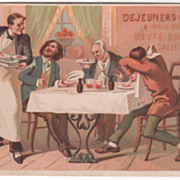 Dejeuners & Diner A Prix Reduits Unknown Place VictorianTrade Card
