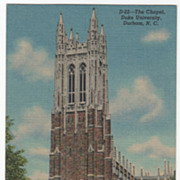 The Chapel Duke University Durham NC Vintage Postcard