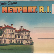 Greetings from Newport RI RHode Island Souvenir Folder
