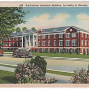 Agricultural Extension Bldg Univ of Georgia Athens GA Georgia Vintage Postcard
