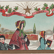 Artist Signed H B Griggs Christmas Carolers in the Snow Vintage Christmas Postcard