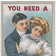 """Artist Signed C V Dwiggins """"You Need a 'Man' or 'a Woman' and You Know It"""" Vintage C"""