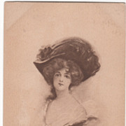 Artist Signed Edith Parsons Williams Glamour Lady Vintage Postcard
