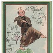 Artist Signed H B Griggs St Patrick on Top of the World Vintage St Patrick ...