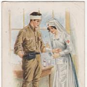 "SOLD Artist Signed Archie Gunn World War I ""Repairing a Man of War"" Vintage Military"