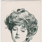 "No 14066 ""Jane "" Vintage Glamour Lady Postcard"