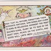 SOLD Artist Signed A T Cook Peace on Earth Skull War Skeleton Vintage Postcard - Red Tag Sale