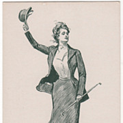 Artist Signed C D Gibson The Sporting Girl Vintage Postcard