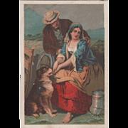 Jayne Sanative Pills Swan & Co Lyndonville NY New York Vintage Trade Card