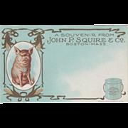 John P Squires Co Pure Leaf Lard Boston MA Vintage Advertising Postcard