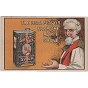 Uncle John's Golden Tree Maple Syrup Boston MA Vintage Advertising Postcard