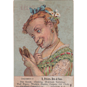 N Peters Bro & Son Dry Goods Clothing Syracuse NY New York Vintage Trade Card