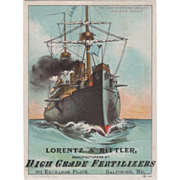 Lorents & Rittler High Grade Fertilizers Baltimore MD Vintage Trade Card
