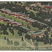 East Campus Duke University Durham NC North Carolina Vintage Postcard