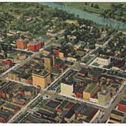 Macon GA Georgia from the Air Vintage Postcard