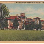 U S Veterans' Administration Hospital Lake City FL Florida Vintage Postcard
