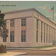 Post Office Key West FL Florida Vintage Postcard