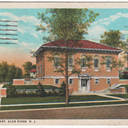 Public Library Glen Ridge NJ New Jersey Vintage Postcard