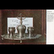 Silver Inkstand Independence Hall Philadelphia PA Pennsylvania Vintage Postcard