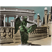 SOLD RPPC Nike Goddess Of Victory Hearst Castle San Simeon CA Vintage Postcard