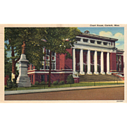 Court House Corinth MS Mississippi Vintage Postcard